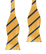 Load image into Gallery viewer, Yellow and Blue Stripes Bow Tie Untied - Adult Self-Tie Bowtie