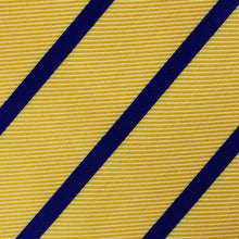 Load image into Gallery viewer, Yellow and Blue Stripes Bow Tie - Adult Pre-Tied Bowtie fabric