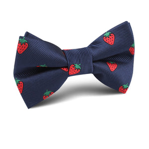 Strawberry Picking Bow Tie - Youth Size - Pre-Tied