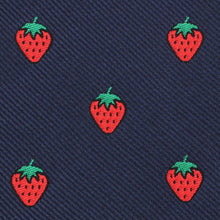 Load image into Gallery viewer, Strawberry Picking Pre-Tied Bow Tie - Adult Size