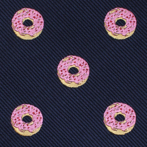 homer simpson pink frosted donut self-tie bow tie fabric