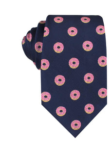 homer simpson pink frosted donut neck tie