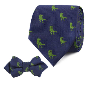 We Have a T-Rex - Father & Son Matching Tie Set