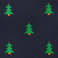 Load image into Gallery viewer, O Christmas Tree Neck Tie Fabric View
