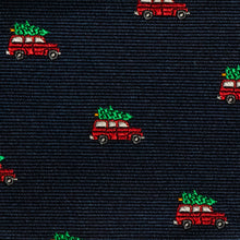 Load image into Gallery viewer, The Griswold christmas tree bow tie fabric view