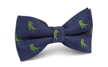 Load image into Gallery viewer, Tyrannosaurus Rex Dinosaur bow tie pre-tied