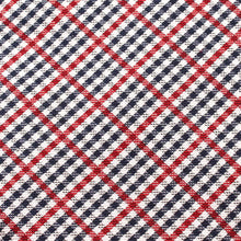 Load image into Gallery viewer, red white & blue plaid pocket square fabric