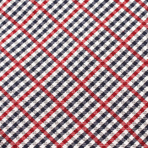 red white & blue plaid pocket square fabric