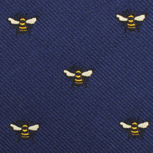 Load image into Gallery viewer, Bees bow tie and neck tie fabric