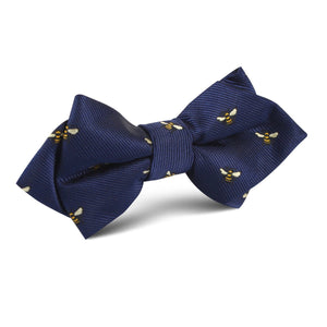 Bees diamond point pre-tied bow tie