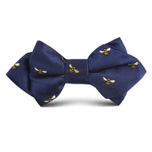Load image into Gallery viewer, Bees diamond point kids bow tie