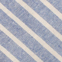 Load image into Gallery viewer, Blue Skies - Blue & White Linen Neck Tie Fabric