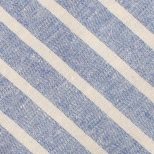 Blue Skies - Blue & White Linen Pre-Tied Bow Tie fabric