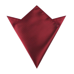 maroon red pocketsquare, herringbone design