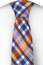 Load image into Gallery viewer, Joyfully Orange Plaid - Skinny Tie - Adult Size