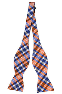 Joyfully Orange Plaid - Adult Size - Self-Tie
