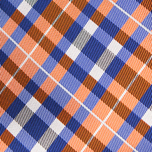Joyfully Orange Plaid - Skinny Tie - Adult Size