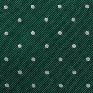 green with white polka dot neck tie fabric