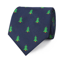 Load image into Gallery viewer, O Christmas Tree Neck Tie Rolled View