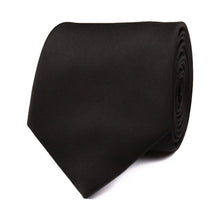 Load image into Gallery viewer, H-Bomb Solid Black Neck Tie Rolled View