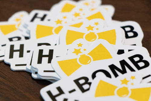 H-Bomb Ties Sticker