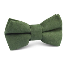 Load image into Gallery viewer, Nature's Harmony - Hunter green linen boy's bowtie