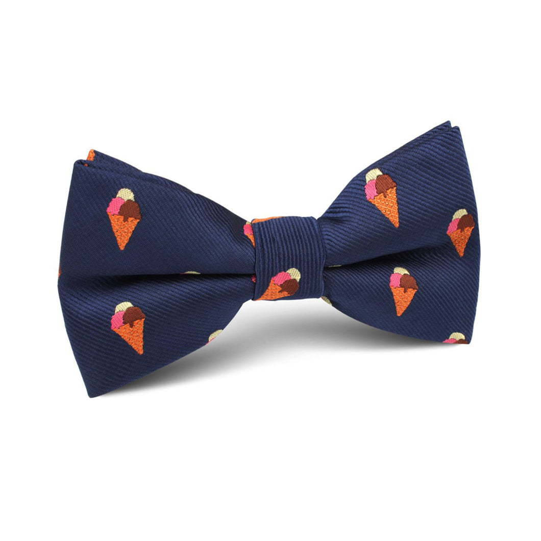 Ice Cream Bow Tie for Men - Pre-Tied Bow Tie