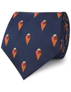 Ice Cream Neck Tie Rolled View