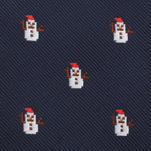 Load image into Gallery viewer, snowman neck tie fabric