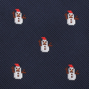 snow man self-tie bow tie fabric