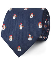 Load image into Gallery viewer, snowman neck tie rolled view