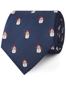snowman neck tie rolled view