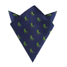 Load image into Gallery viewer, Green T-Rex Dino Pocket Square
