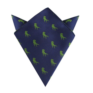 Green T-Rex Dino Pocket Square