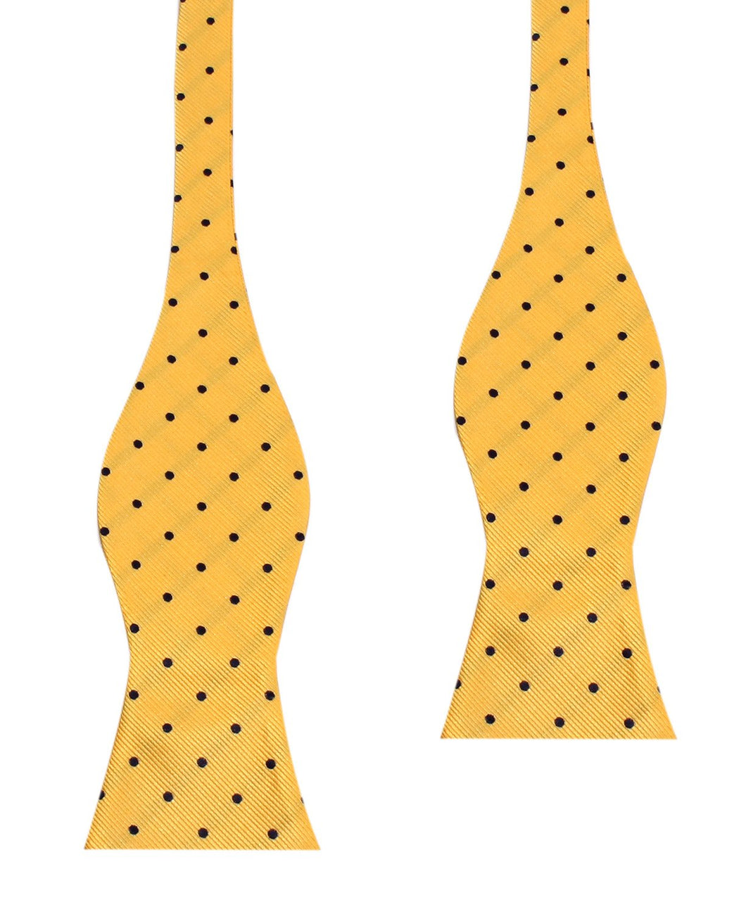 Yellow and blue polka dot bow tie (untied)