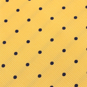 Wildcats Yellow Navy Polkadots Pocket Square Fabric