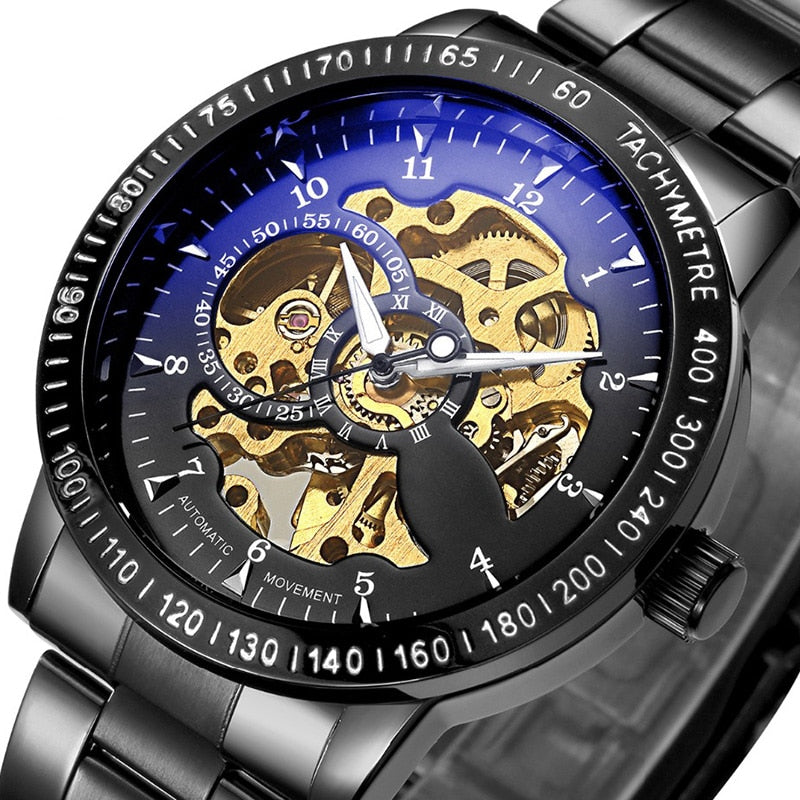 Men's Luxury Automatic Stainless Steel Watch