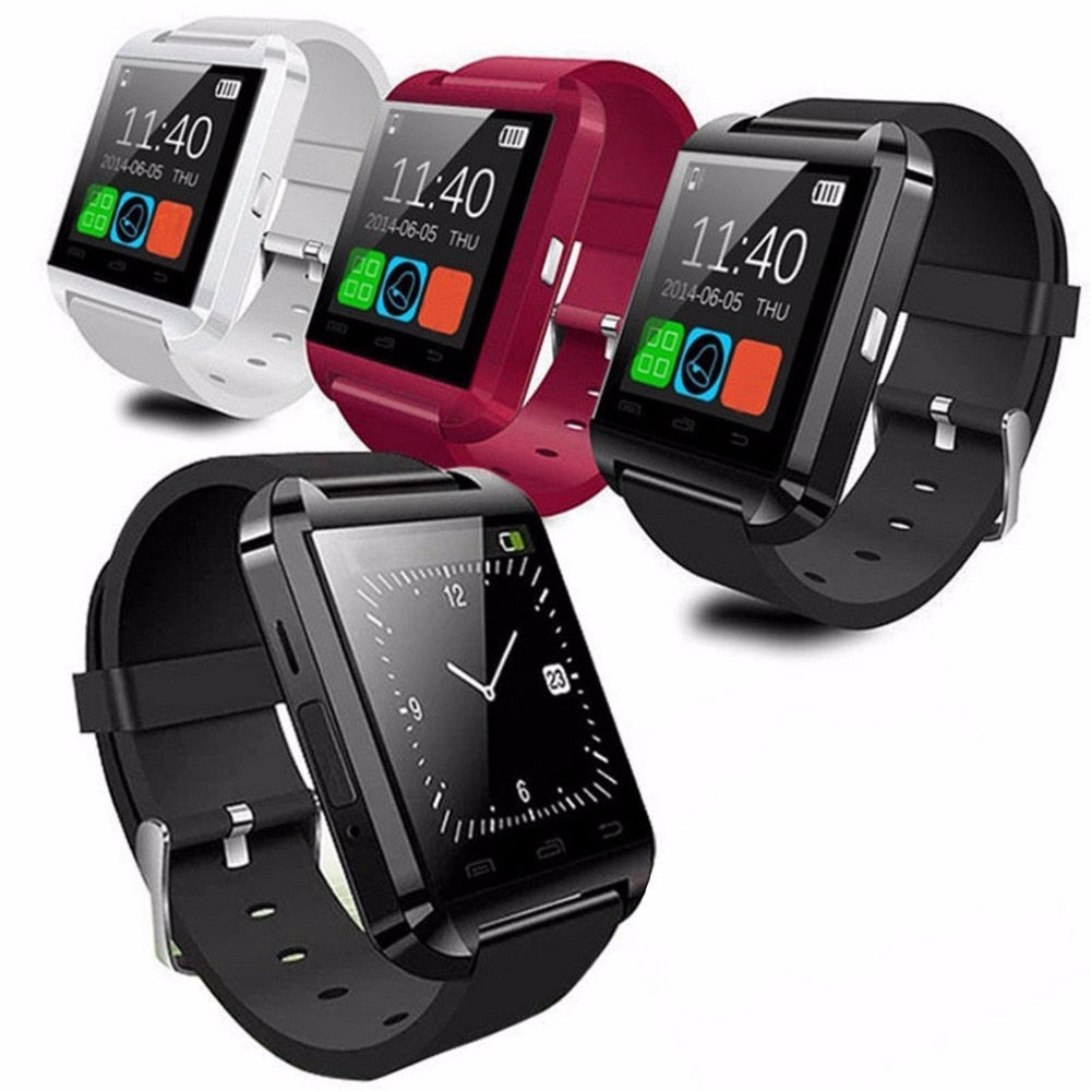 U8 Smartwatch Portable Multifunctional Bluetooth V3.0 + EDR Smart Wrist Watch Phone Camera Card Mate Universal For Smart Phone