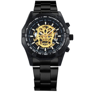 Skull Logo Stainless Steel Watch