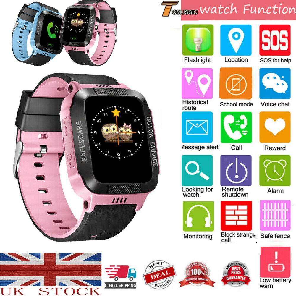 Children GPS Smart Watch Kids SOS Location Tracker