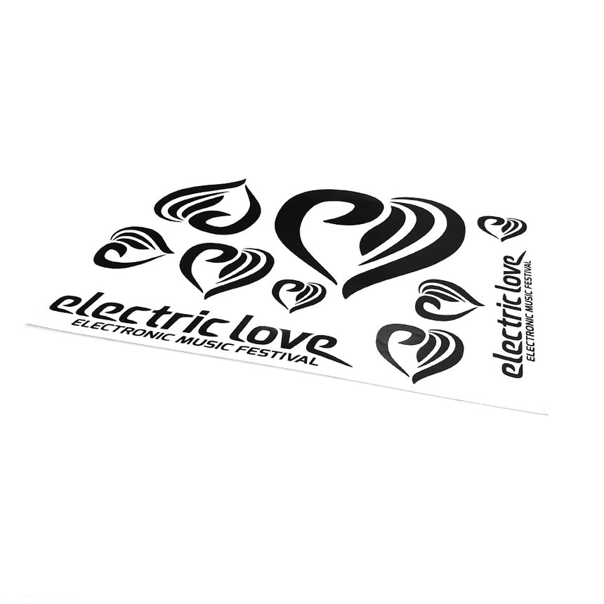 Electric Love Car Sticker Black