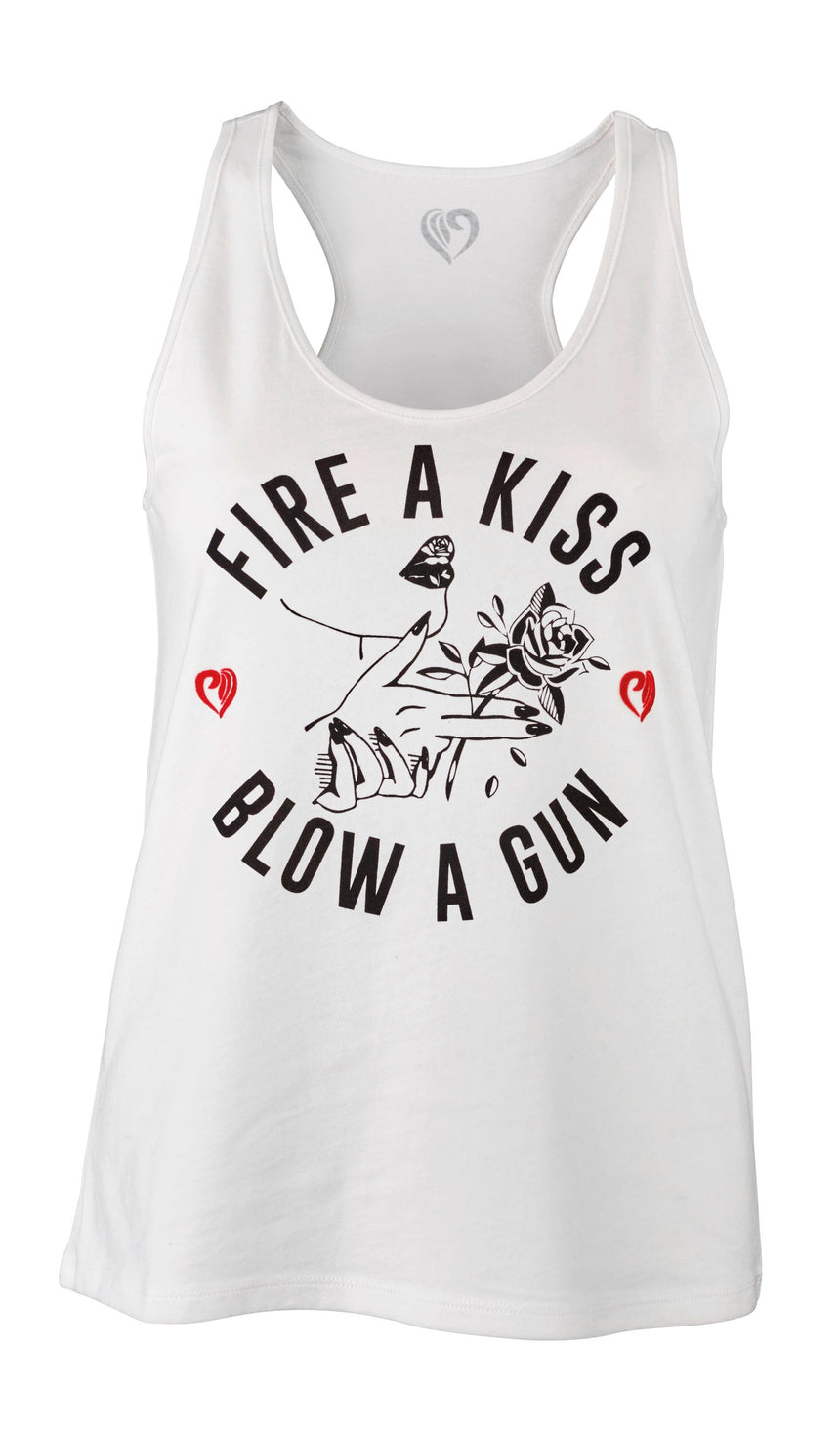 "Tanktop ""Fire A Kiss - Blow A Gun"""