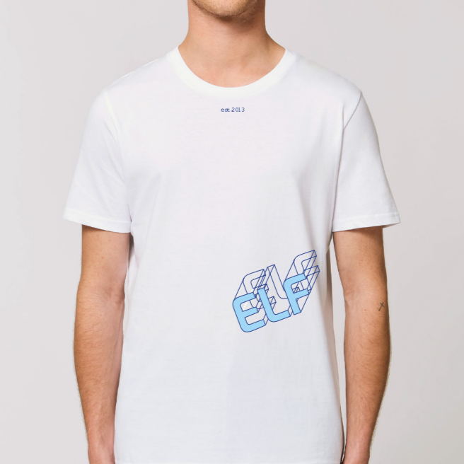 elf20 strong typo t-shirt white men