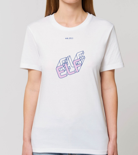 elf20 strong typo t-shirt white