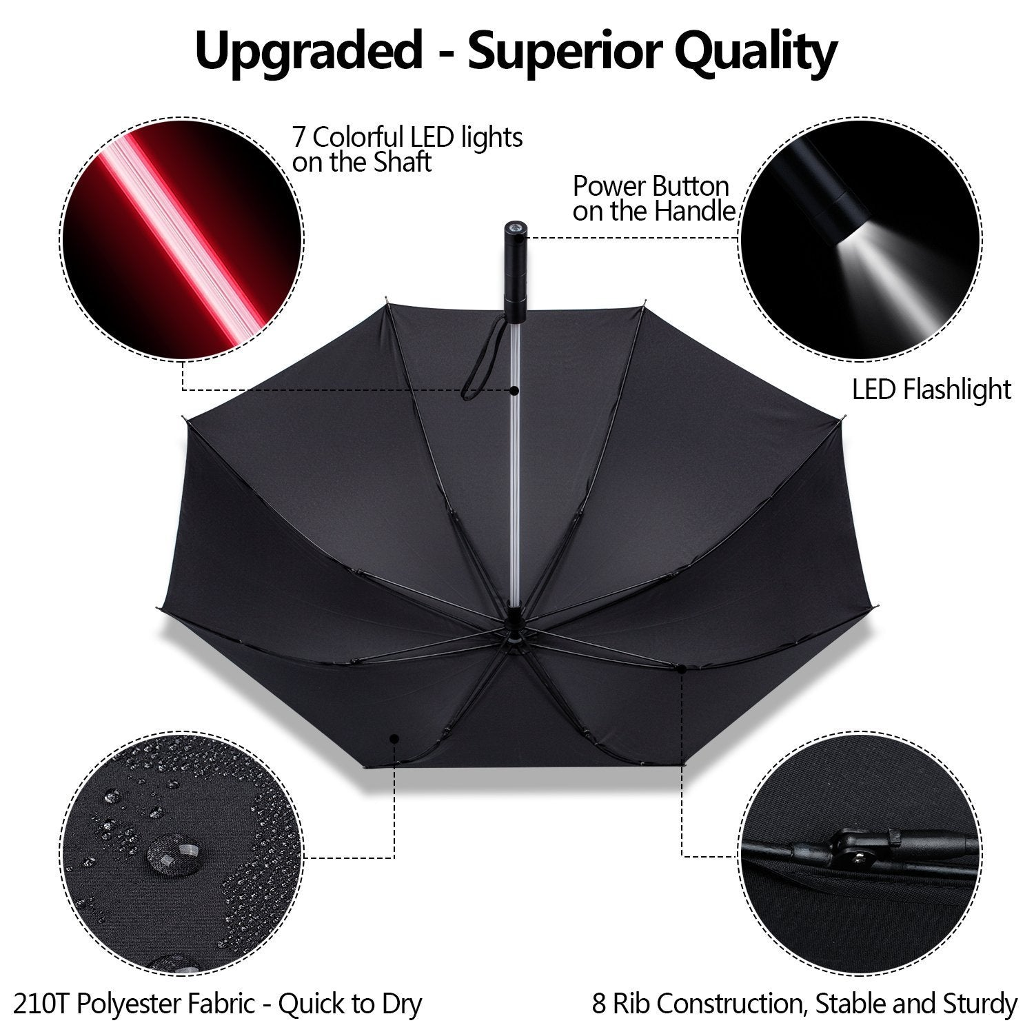 7 Color LED Light Up Umbrella - fjt-shop.store