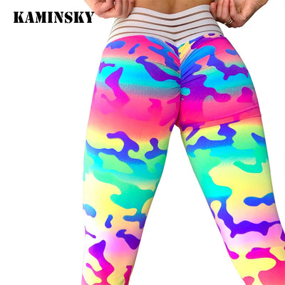 "Camouflage High Waisted ""Scrunch Butt"" Leggings"