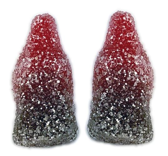 1/2 lb Sour Gummy Cherry Cola Bottles - Cypress Sweets