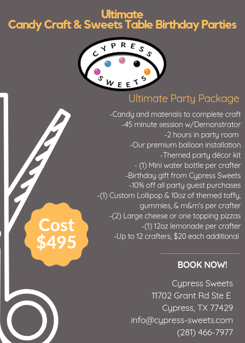 Cypress Sweets Party Package 3