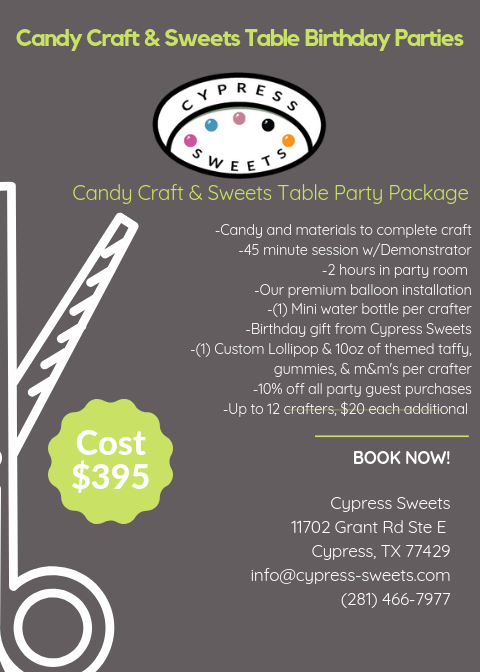 Cypress Sweets Party Package 2