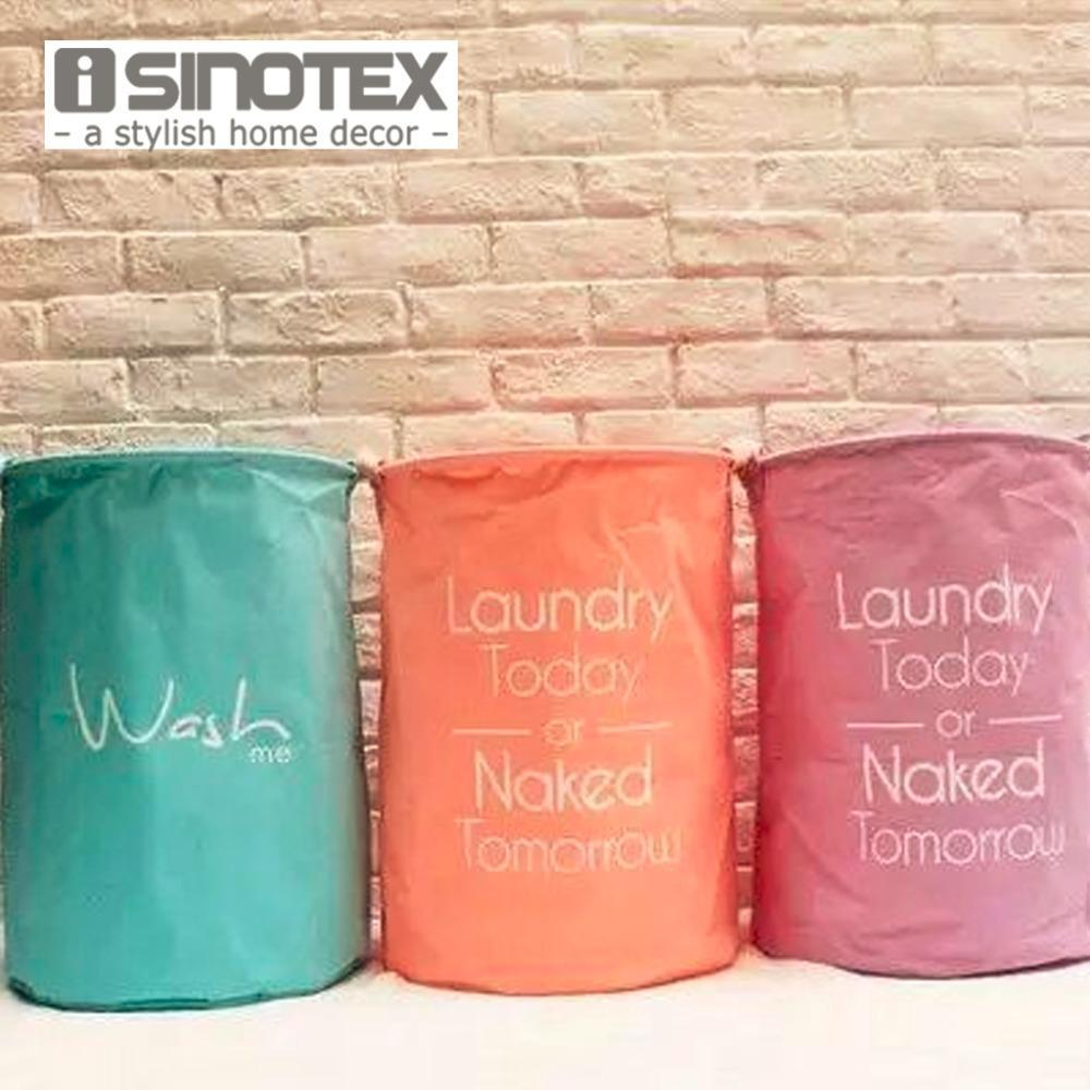 New Natural Cotton Linen Fabric Laundry Basket 4 colors